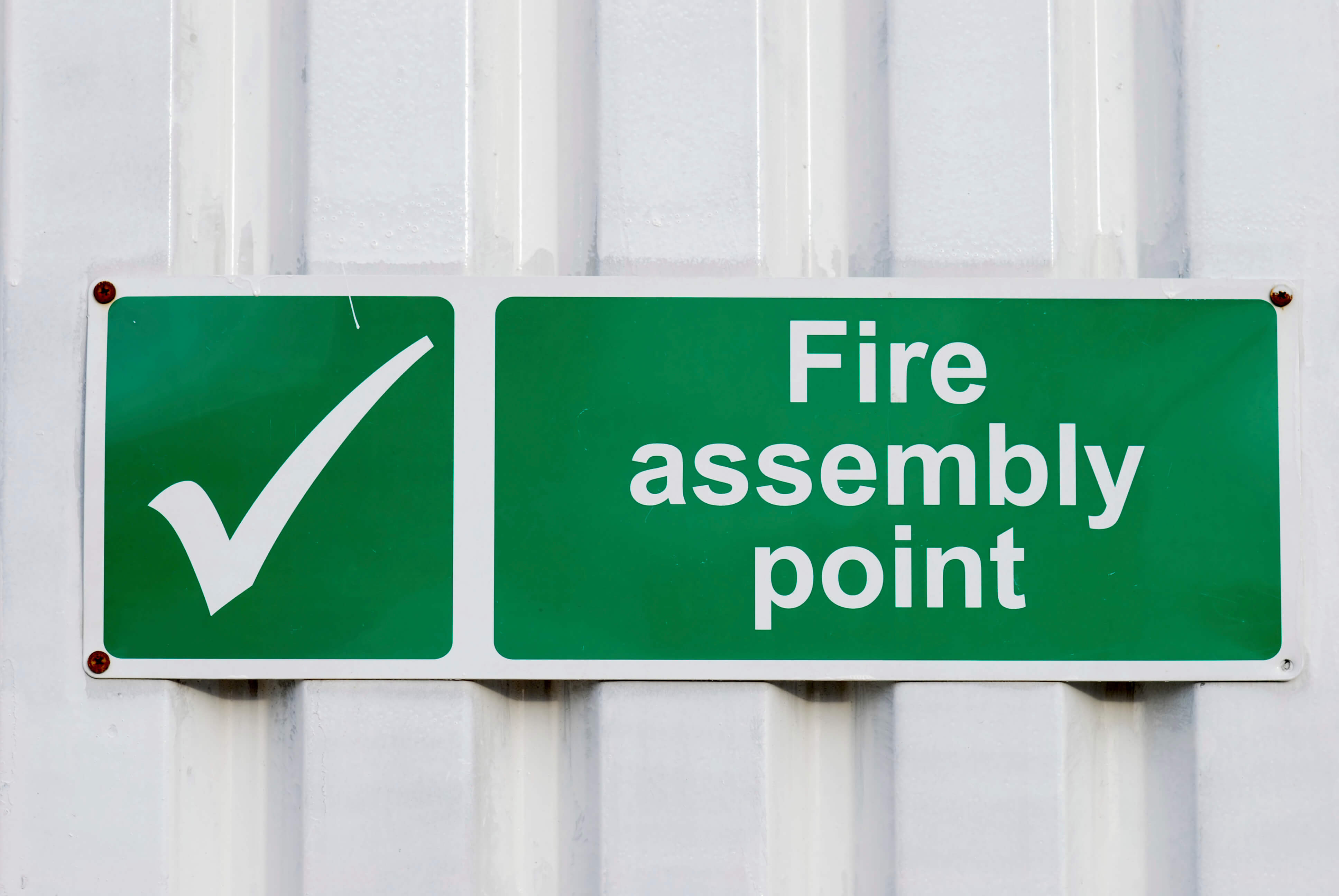fire evacuation point sign