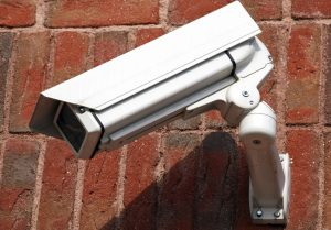 cctv security system attached to wall