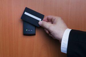Door lock with keycard
