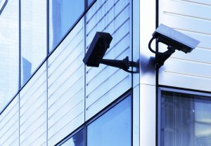 CCTV system on small business office